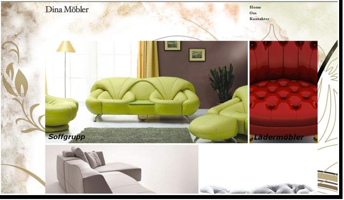 """Internetinis puslapis baldų pardavėjams Švedijoje, """"Dina Möbler"""""""