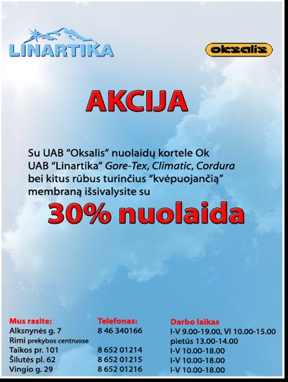 """Reklaminis plakatas UAB """"Linartika"""""""