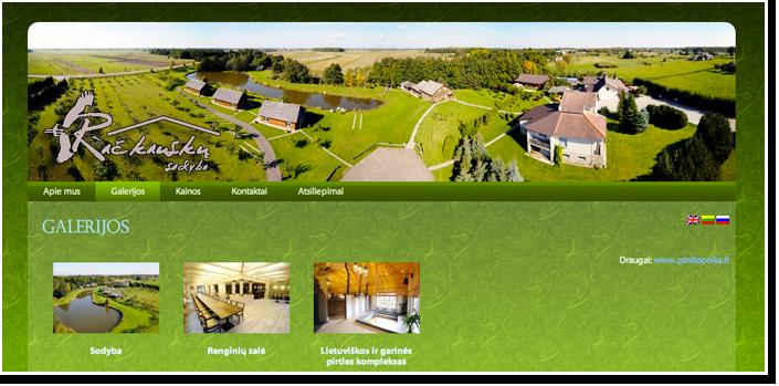 Internetinis puslapis Račkauskų sodybai